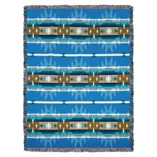 Cimarron Turquoise  Tapestry Throw Blanket | Pure Country | pc8115T
