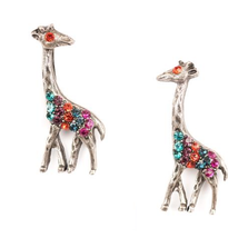 Giraffe Pewter Post Earrings | La Contessa | Mary DeMarco | Nature Jewelry | BR-9710