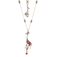 Giraffe Pewter Pendant Necklace   La Contessa   Mary DeMarco   Nature Jewelry   NK-9710