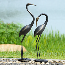 Crane Garden Sculpture Set of 2 | Watchful Waders | SPI Home | 51063