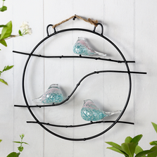 Art Glass Bird Trio Wall Sculpture | 83023 | SPI Home