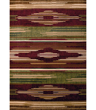 Native Chic Burgundy Area Rug | United Weavers | 510-28634