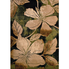 Floral Canvas Green Area Rug | United Weavers | 510-28845