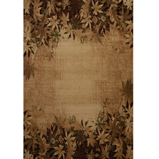 Autumn Trace Leaves Area Rug Toffee | United Weavers | 511-29859