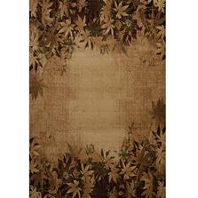 Autumn Trace Leaves Area Rug Toffee   United Weavers   511-29859