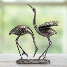 Bird Pair Sculpture | Seaside Splendor | SPI Home | 51042