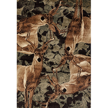 "Deer Area Rug ""Woodside"" 