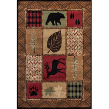 "Bear and Deer Area Rug ""Woodside"" 