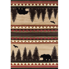 "Bear Area Rug ""Woodside"" 