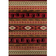 "Bear Print Area Rug ""Woodside"" 