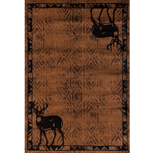 "Deer Area Rug Brown ""Woodside"" 