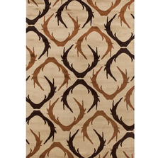 "Antler Area Rug ""Woodside"" 