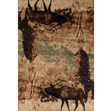 "Elk Area Rug ""Woodside"" 