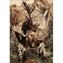 "Moose Dream Catcher Area Rug ""Woodside"" 