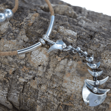 Bonefish Sterling Silver and Cork Necklace | Nature Jewelry | CTD-N35B