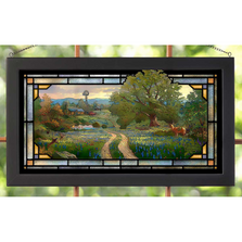 Meadow Farmhouse Stained Glass Art | Country Living | Wild Wings | 5386600402