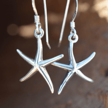 Starfish Sterling Silver Earrings | Nature Jewelry | CTD-E12