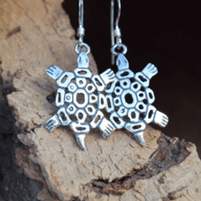 Turtle Sterling Silver Earrings | Nature Jewelry | CTD-E19