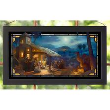 Nativity Scene Stained Glass Art | Thomas Kinkade | Wild Wings | 5386600404