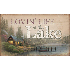 Lakeside Cabin Wood Wall Art | Lovin' Life at the Lake | Wild Wings | 5209606403