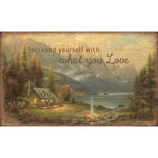 Cabin Wood Wall Art | Surround Yourself with what you Love | Wild Wings | 5209606401