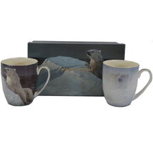 Polar Bear Bone China Mug Set of 2 | McIntosh Trading Polar Bear Mug | Robert Bateman Polar Bear Mug Set