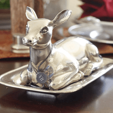 Doe Pewter Butter Dish | Vagabond House | A108
