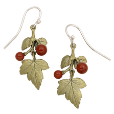 Gooseberry Small Leaf Wire Earrings | Michael Michaud Jewelry | SS3290BZRJ