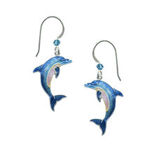 Dolphin Cloisonne Wire Earrings | Bamboo Jewelry | Nature Jewelry