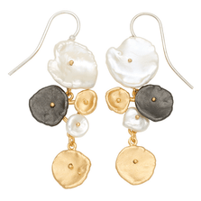 River Pebble Long Wire Earrings | Michael Michaud Jewelry | SS3310BZMULWP