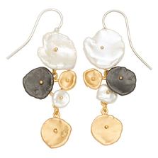 River Pebble Long Wire Earrings   Michael Michaud Jewelry   SS3310BZMULWP