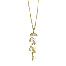 Petite Leaf Pendant Necklace | Michael Michaud Jewelry | SS9202BZWP