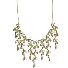 Petite Leaf Mini Statement Necklace | Michael Michaud Jewelry | SS9203BZWP