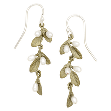 Petite Leaf Drop Dangle Wire Earrings | Michael Michaud Jewelry | SS3294BZWP