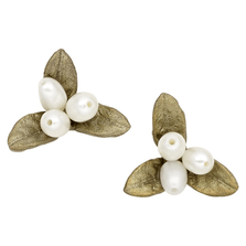 Petite Leaf Stud Earrings   Michael Michaud Jewelry   SS3292BZWP