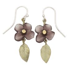 Wood of Life Dangle Wire Earrings   Michael Michaud Jewelry   SS3302BZ
