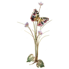 Bovano Orange Beauty Butterfly Enameled Copper Accent Wall Art | B16