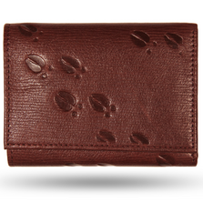 Deer Tracks Brown Leather Men's Trifold Wallet