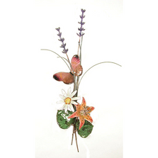 Bovano Butterfly, Lily, and Lavender Accent Wall Art | B55