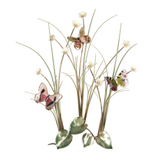 Bovano Three Butterflies in Grassy Meadow Enameled Copper Wall Art | B56