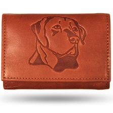 Labrador Men's Leather Trifold Tan Wallet