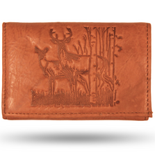 Deer and Doe Leather Men's Trifold Tan Wallet