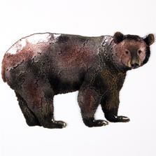 Bovano Black Bear Enameled Copper Wall Art | W8097