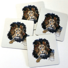 Lion Coasters Set of 4 | Betsy Drake