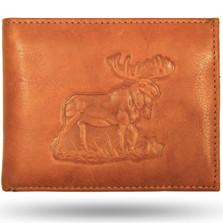 Moose Leather Bifold Tan Wallet