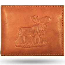 Moose Leather Bifold Tan Wallet
