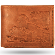 Wood Duck All Leather Bifold Wallet
