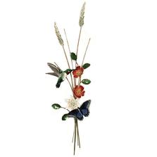 Bovano Hummingbird, Butterfly, Vertical Wall Art | W4713