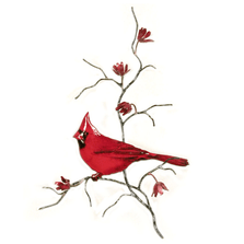 Bovano Male Cardinal Enameled Copper Wall Art | W4438