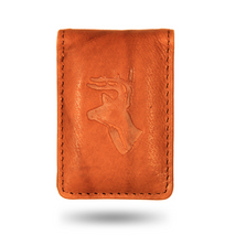 Deer Head Leather Money Clip